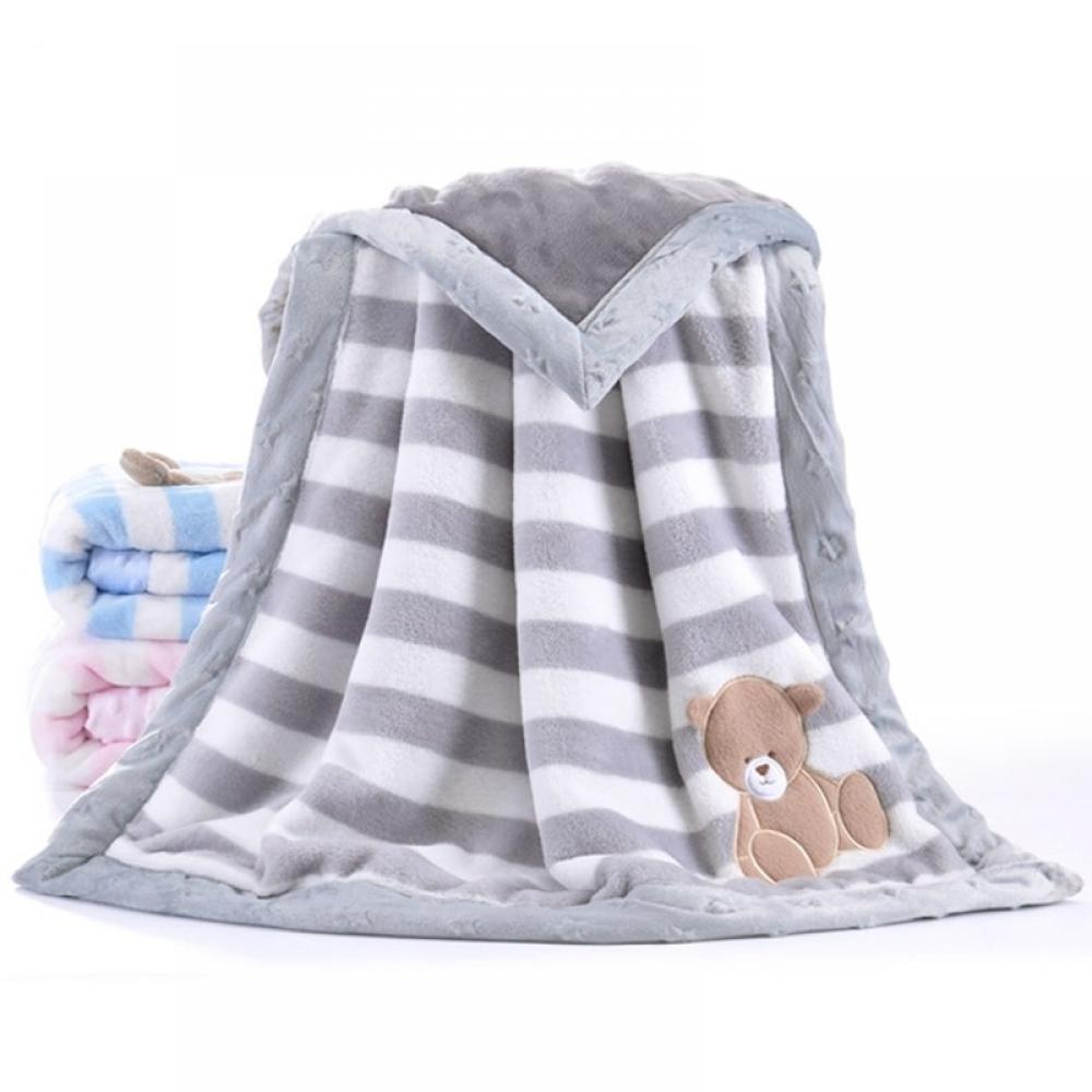 #cool #pink Cartoon Flannel Baby Blanket