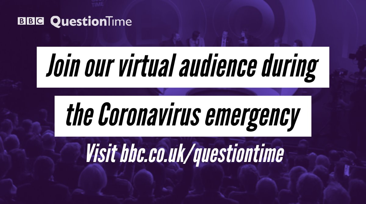 Question Time was due to visit Rugby this week, but were not travelling and have no studio audience at this time. Instead, wed love people in the Rugby area to send us your video questions. Join the virtual audience here: bbc.in/3auPI3P #bbcqt