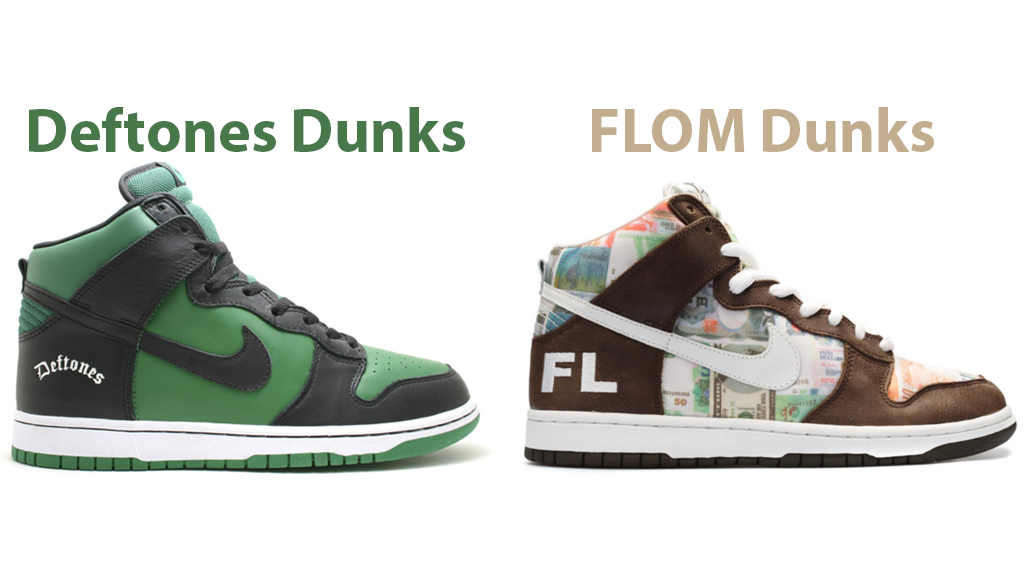 Two of the rarest Nike SB dunk highs