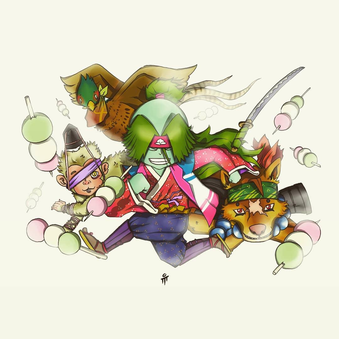 6 : So here's he is Momotaro, Dog, Monkey, The Pheasant and of course All Of Kibi Dango!   #mumur1  #artwork  #manga #anime #digitalpainting #digitalcoloring #ilustrasi  #illustration  #characterdesign #indonesia  #PaintoolSai #pendrawing #japanesefolklore  #momotaropic.twitter.com/GHFiMZv6q4