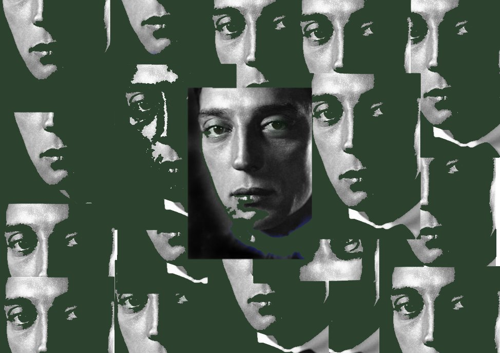 A little luck of the Irish collage #BusterKeaton and somehow he has a green beard! pic.twitter.com/wLq1AmnPJF