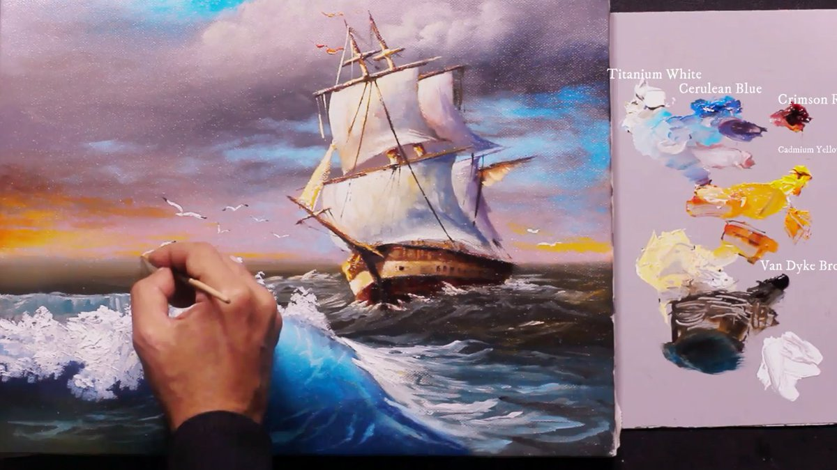 https://t.co/jemba1Bfvy How To Paint a Sailboat And Seascape . Oil Painting Tutorial By Yasser Fayad #oilpainting, #artist, #art, #paintings, #pleinair, #gallery, #drawing, #wildlifeart,  #arthistory https://t.co/qbaYe6vYYF