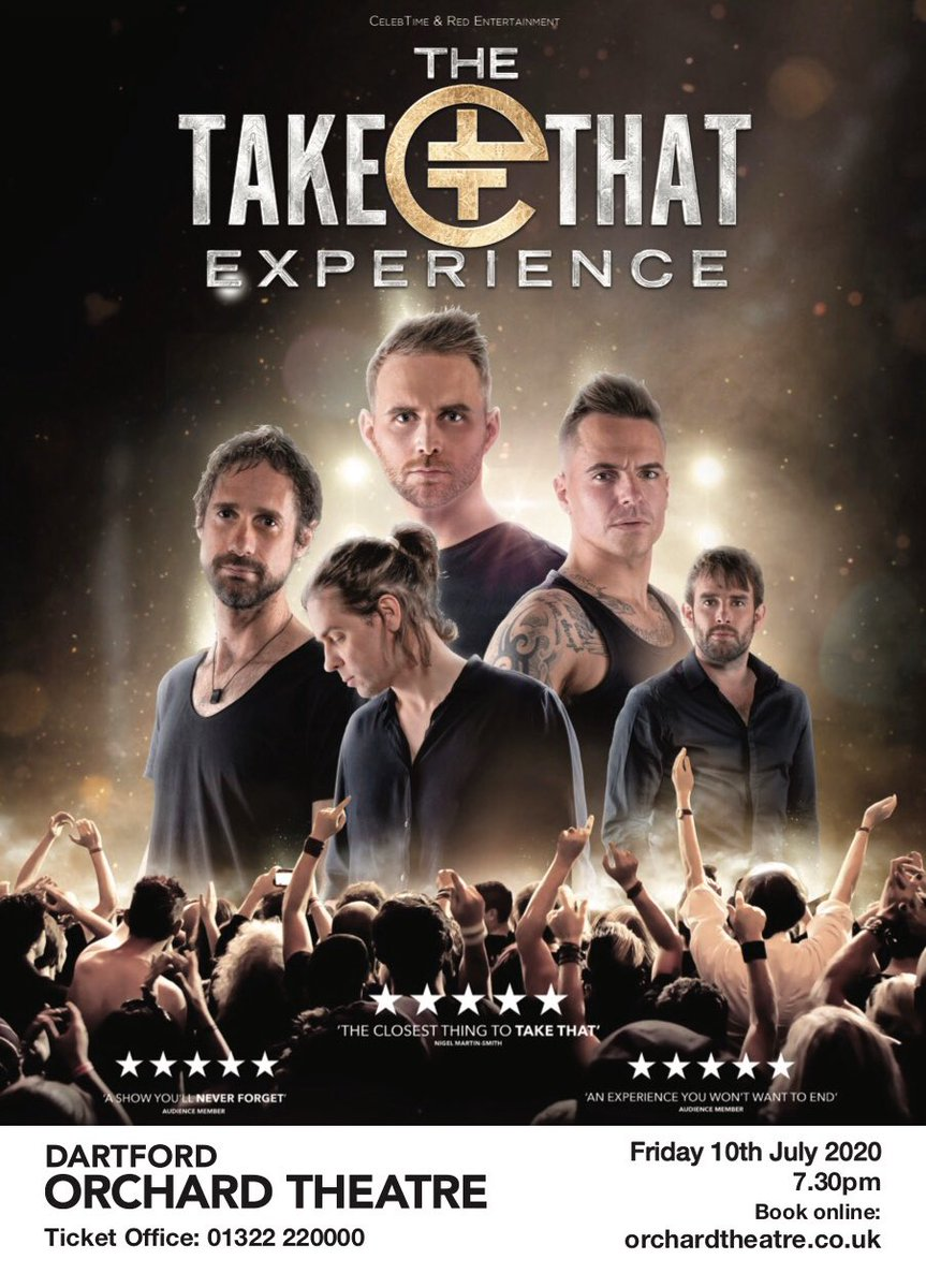 We are pleased to announce @thetakethat show at @OrchardTheatre has been rescheduled for the 10 July 2020 all being well with the rescheduled date  you have our word we are gonna have the best party ever.🌟 #take that #party #entertainment #theatre
