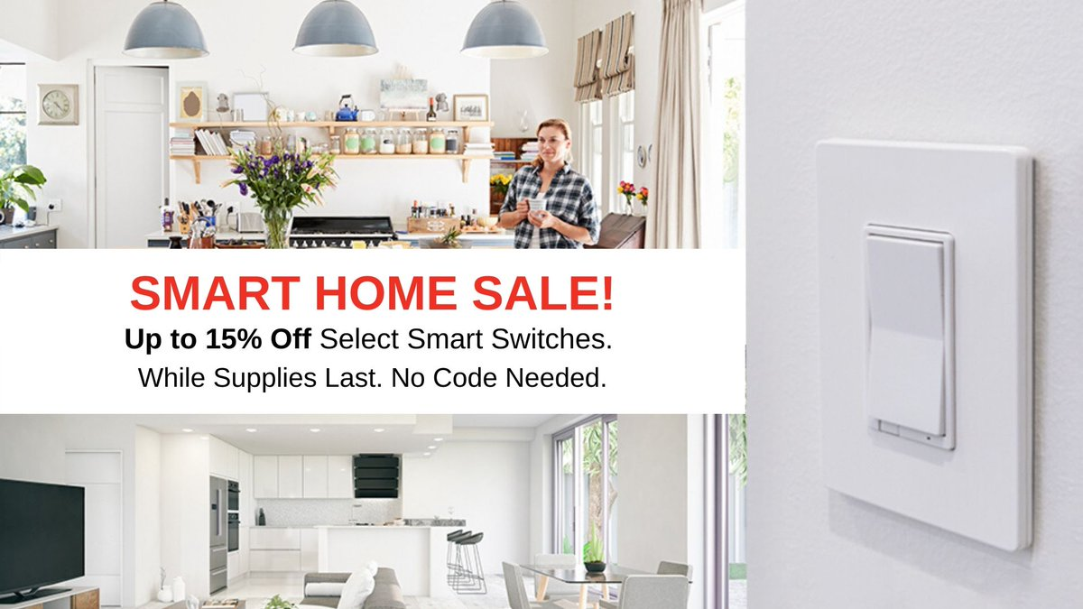 Today is the last day for Smart Savings on our smart home products! Get up to 15% off select GE Enbrighten Z-Wave, Zigbee and Wi-Fi smart home products🏡