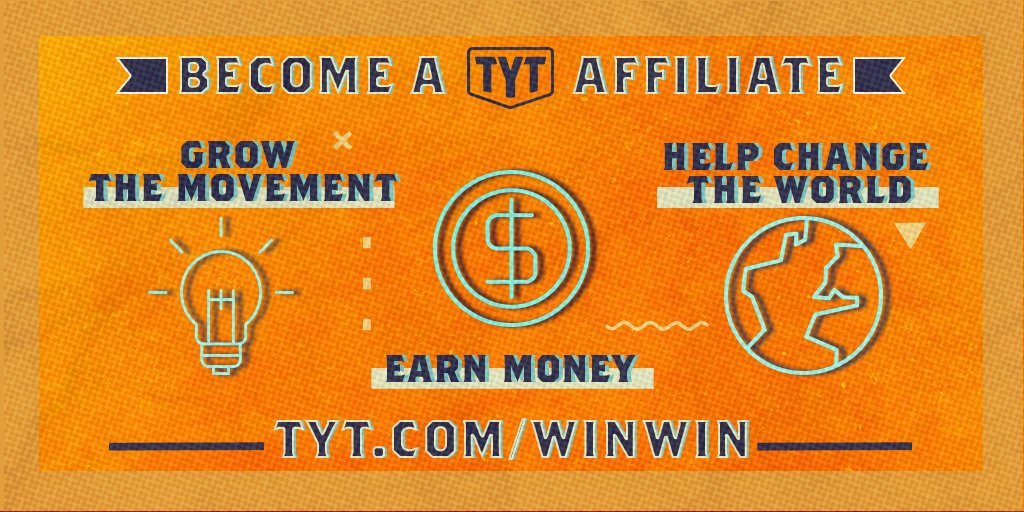 Our TYT Affiliates are strengthening our movement. Join us! TYT.com/WinWin #tytlive