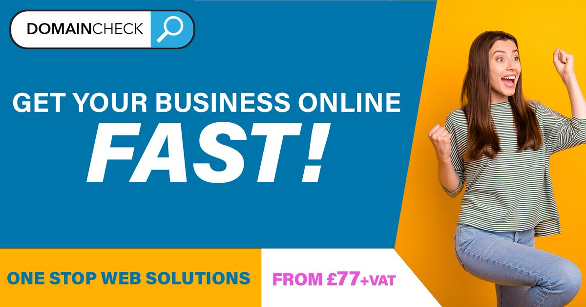 Need to start trading online fast? Check out our bundles below!  https://www.domaincheck.co.uk/bundles/  #BusinessOnline #NewWebsite #FirstWebSite #OnlineShoppic.twitter.com/GZ97ErC1Mx