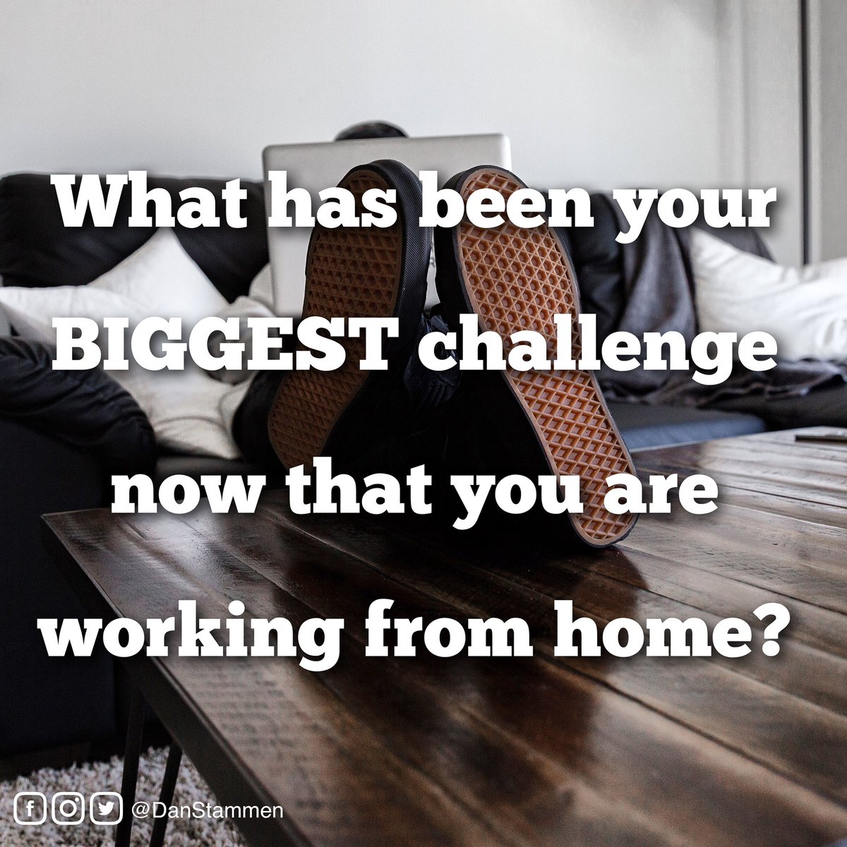 "What has been your ""BIGGEST"" challenge working from home?  If you have a specific question on this topic please leave your question below!  Stay Safe, Stay Home!   #workfromhome #homebasedbusiness #work #home #leadership"