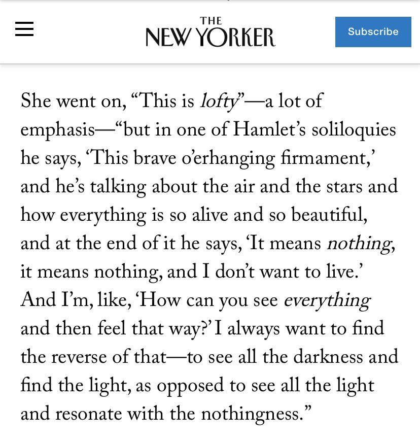 RT @sabizak: Enjoyed this Greta Gerwig insight. https://t.co/ZQFG5SZkqv
