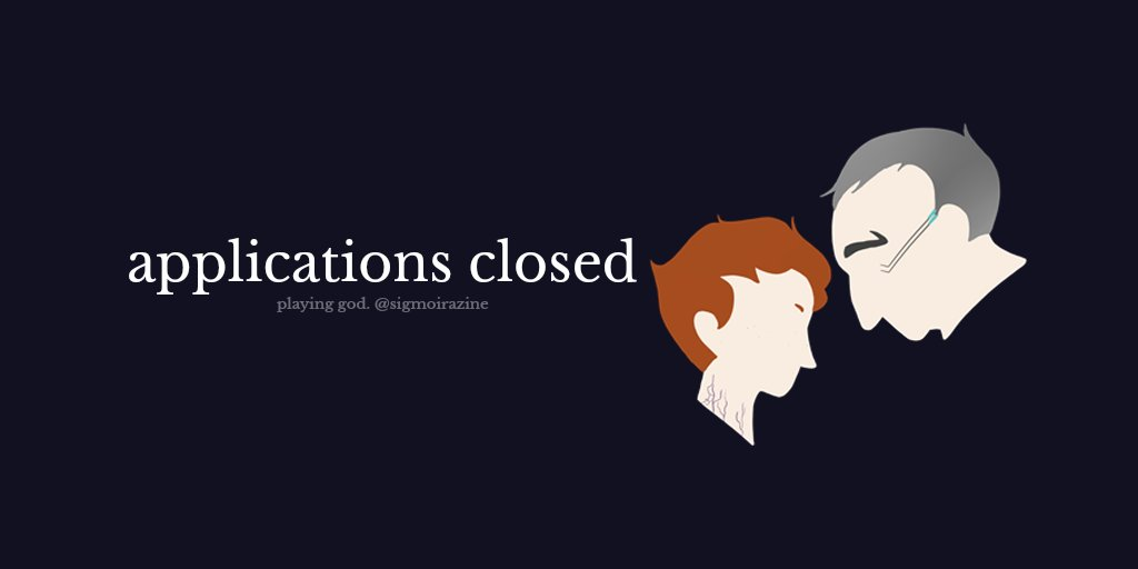 APPLICATIONS ARE CLOSED! 💙💜  Thank you to everyone who applied! We will be opening extra applications later on if anyone is interested!  #Overwatch #SigMoira #OverwatchZine #OverwatchTherapy #OverwatchMoira #OverwatchSigma #SigMoi https://t.co/e3C47KmTs1