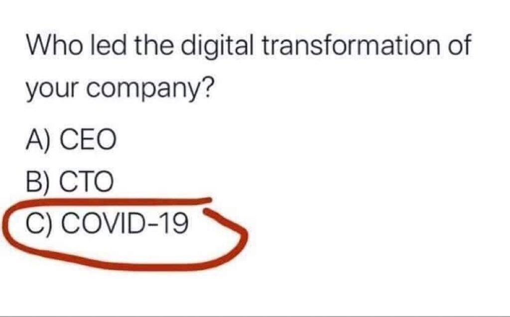 Die Frage der aktuellen Zeit: Welchen Einfluss hat (und wird in wird in Zukunft haben) #COVID19 in Bezug auf die #Digitalisierung unseres Lebens...  #hxi #digitaletransformation