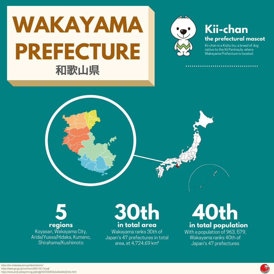 Beginning this week, the consulate will spotlight a different prefecture every week as part of our #JapanVirtualTour series!   The first destination on our tour is Wakayama Prefecture. Wakayama is a sister state of Florida, and is located in the Kansai region of #Japan. pic.twitter.com/dEtSfoXggF