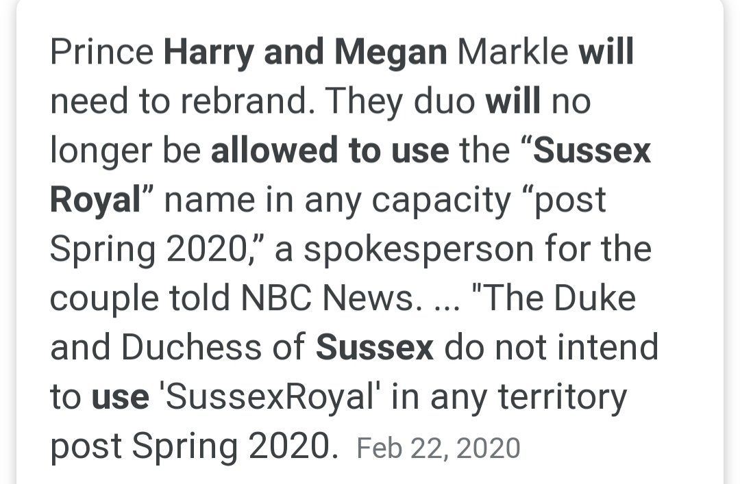 They probably will because they are prohibited from using SussexRoyal. pic.twitter.com/fay1njESnY