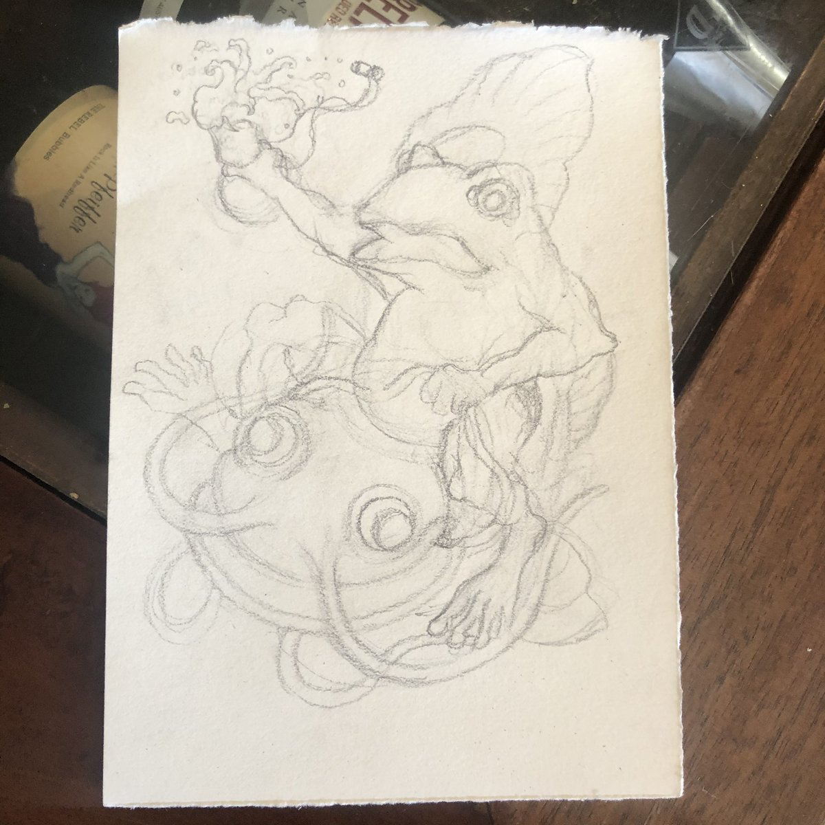 Sketching up a Namazu with toad piece.   #melbourneart #melbourneartist #tattoodesign #pencilsketch #sketch #pencilart #drawing #illustration #japanesestyle pic.twitter.com/6Pejt1z7dt