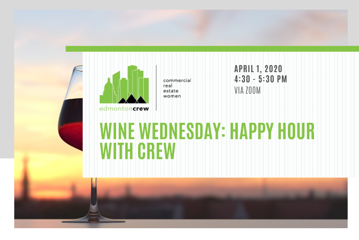 "@EdmontonCREW Members, registration for this week's virtual #winewednesday is now in your inbox. Can't wait to ""see"" you all there!  #edmontoncrew #crewevents #CREWoverCOVIDpic.twitter.com/xmi5a4xB0J"
