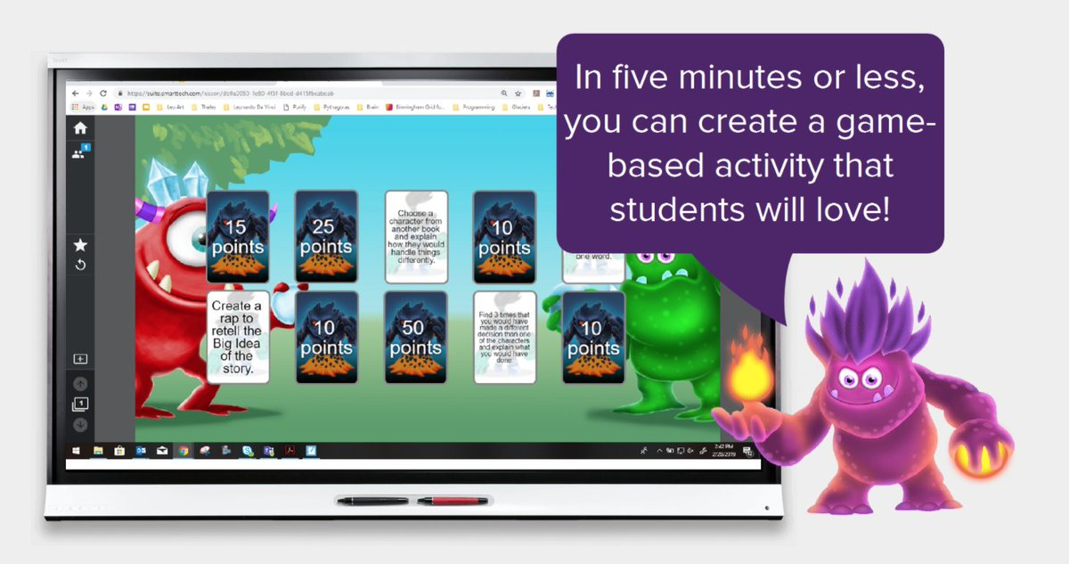 Teachers! Create a game based activity in 5 minutes or less with SMART Learning Suite!  https://support.smarttech.com/docs/software/smart-learning-suite/en/teacher-guide/default.cshtml?cshid=teacher-guide…  Contact LightWerks for ANY assistance with remote teaching.  We are here to help.  #onlinelearning #smartboard #smartlearningsuiteonline #remotelearning #elearningpic.twitter.com/eaj7Rhw7Lh
