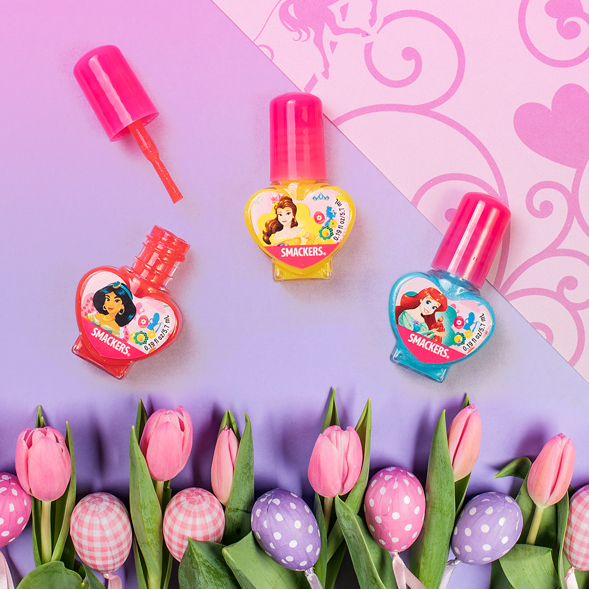 It's #ManiMonday and who doesn't want to be pampered like a #DisneyPrincess? Get the most adorable set of nail polish for your #Easterbasket now available @RiteAid @Target and @Walmart #disneynailpolish #eastertreats #giftideas #smackerspic.twitter.com/lTSge0x6no