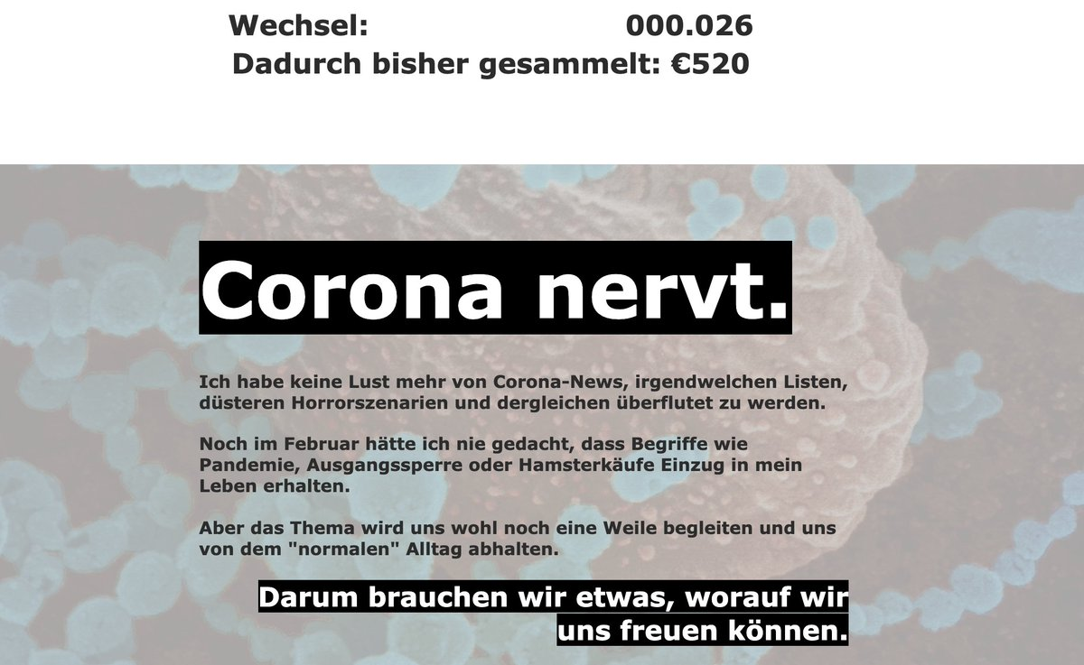 #Coronakrise