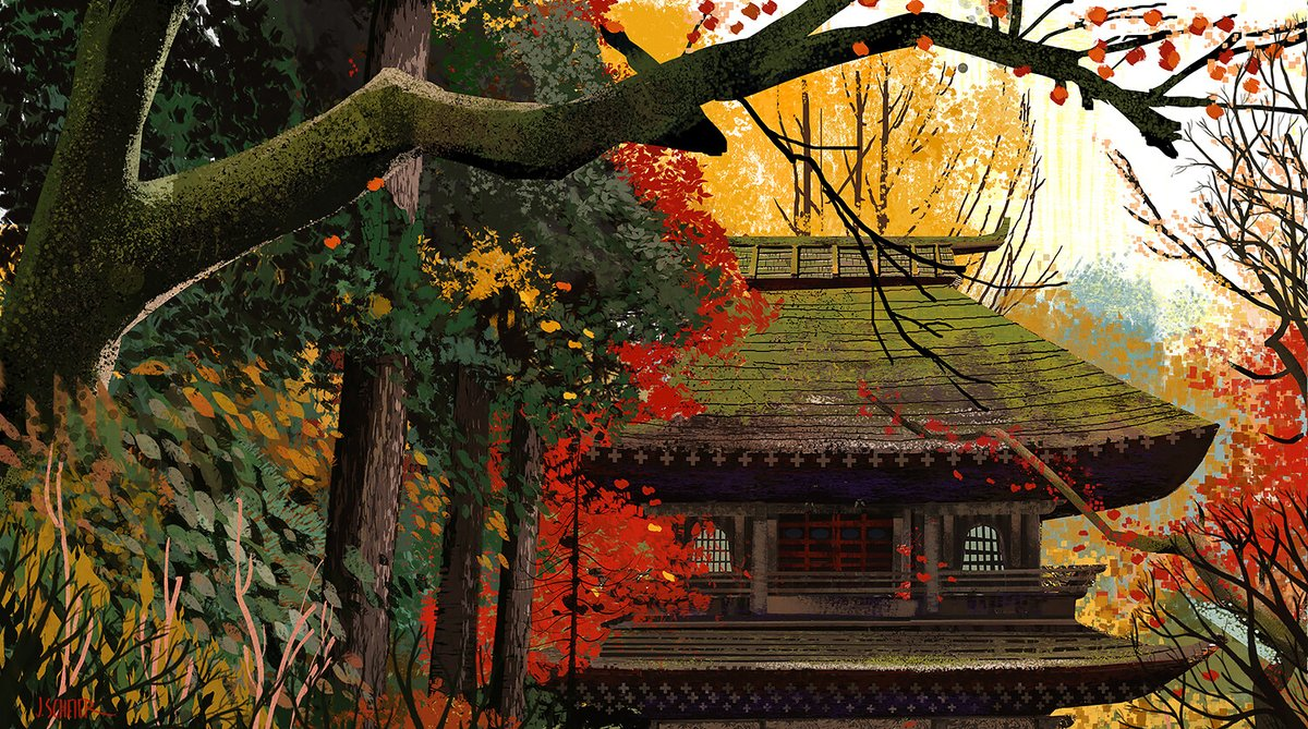 fall in japan. personal project.  #jasonscheier #artwork #Japan pic.twitter.com/O6cM0s85Vo