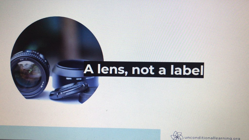 """How to look at trauma? """"A lens not a label"""". @AlexSVenet"""