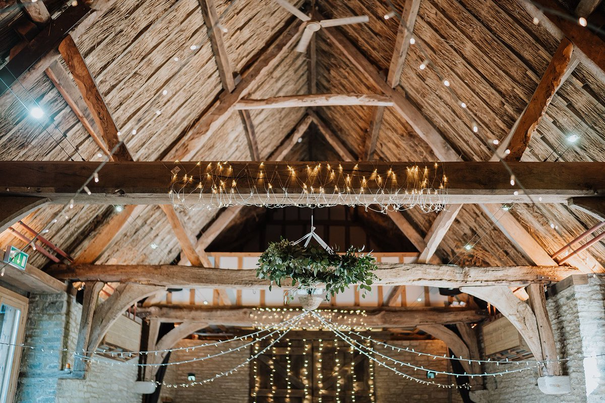 We know you have to wait a bit longer to get married 😔 but that means there's more time for some #wedding #planning! So decisions decisions, how are you going to decorate our gorgeous barn roof? Fairy or Festoon? @NewForestStudio #weddinginspiration #fairylights #loveatlaunton