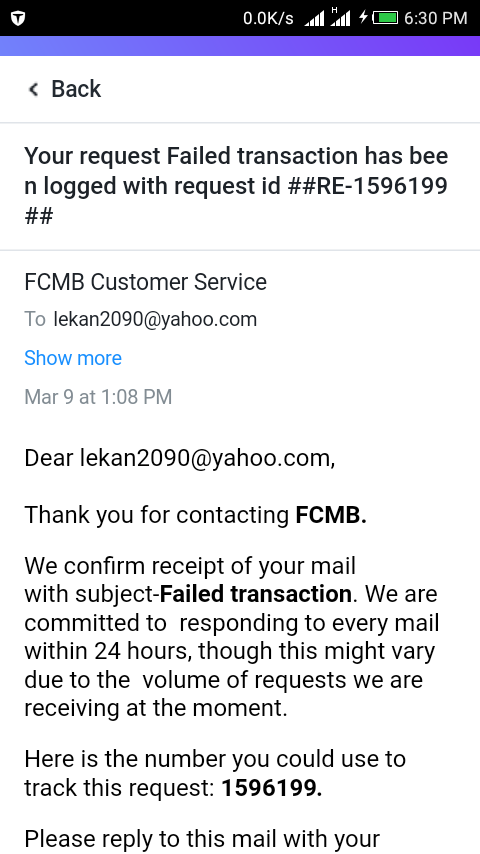 @MyFCMB Attached is the email response FCMB sent pic.twitter.com/O85Sjyb1Eg