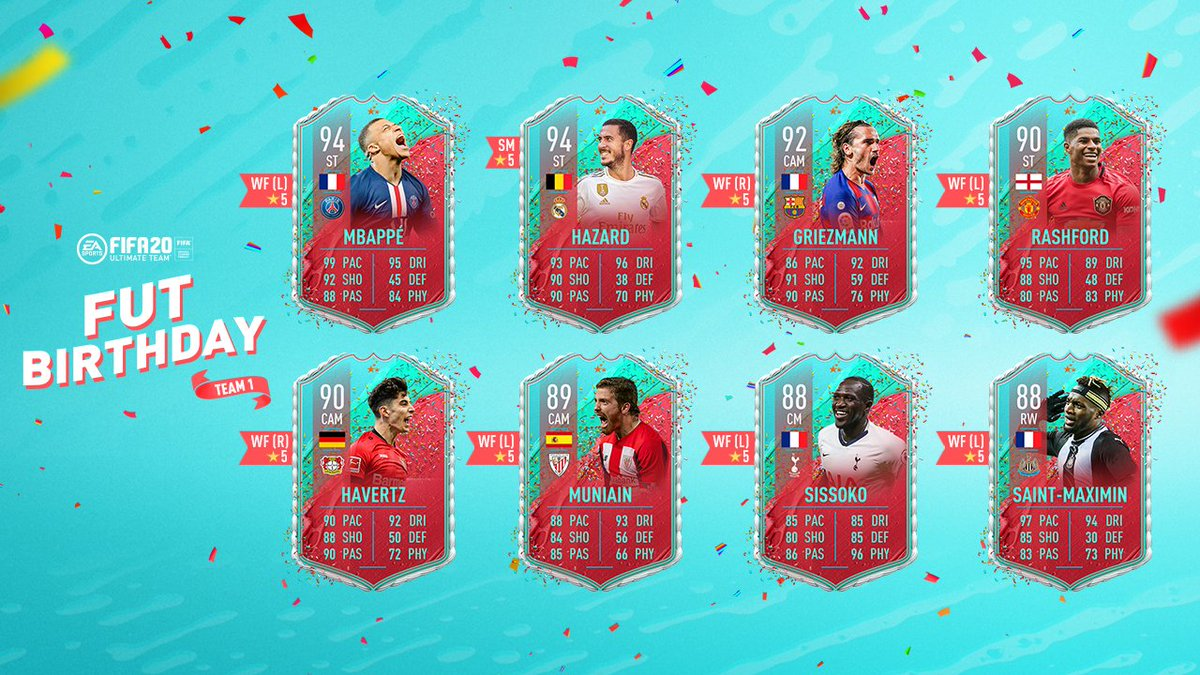How do you celebrate a #FUTBirthday ? With FUT Birthday Squads, obviously.  Join the party in #FIFA20 :  https://xbx.lv/2ylO5rd