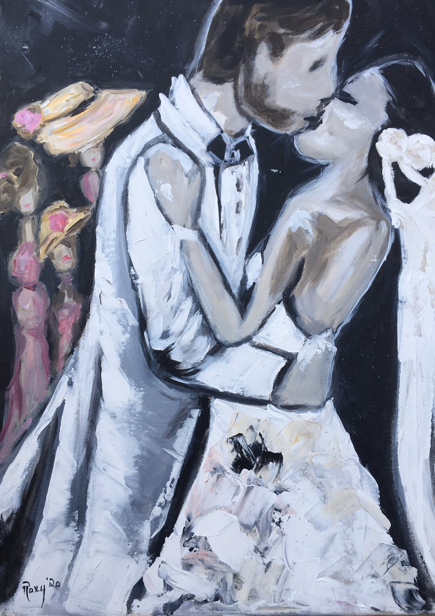#love #joy #art #wedding #couple #kissing