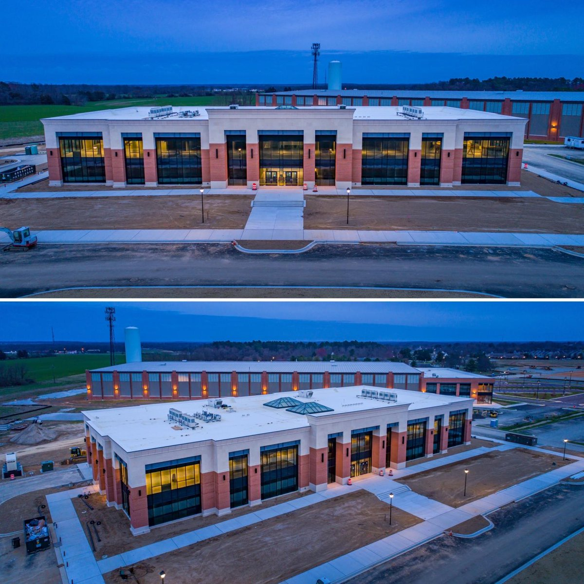 Special thanks to KRM Development Corp. and Shore Studios for these awesome drone shots of the @DixonValve HQ progress!  #architecture #design #chestertown #dixonvalve #industrialdesign #corporatedesign