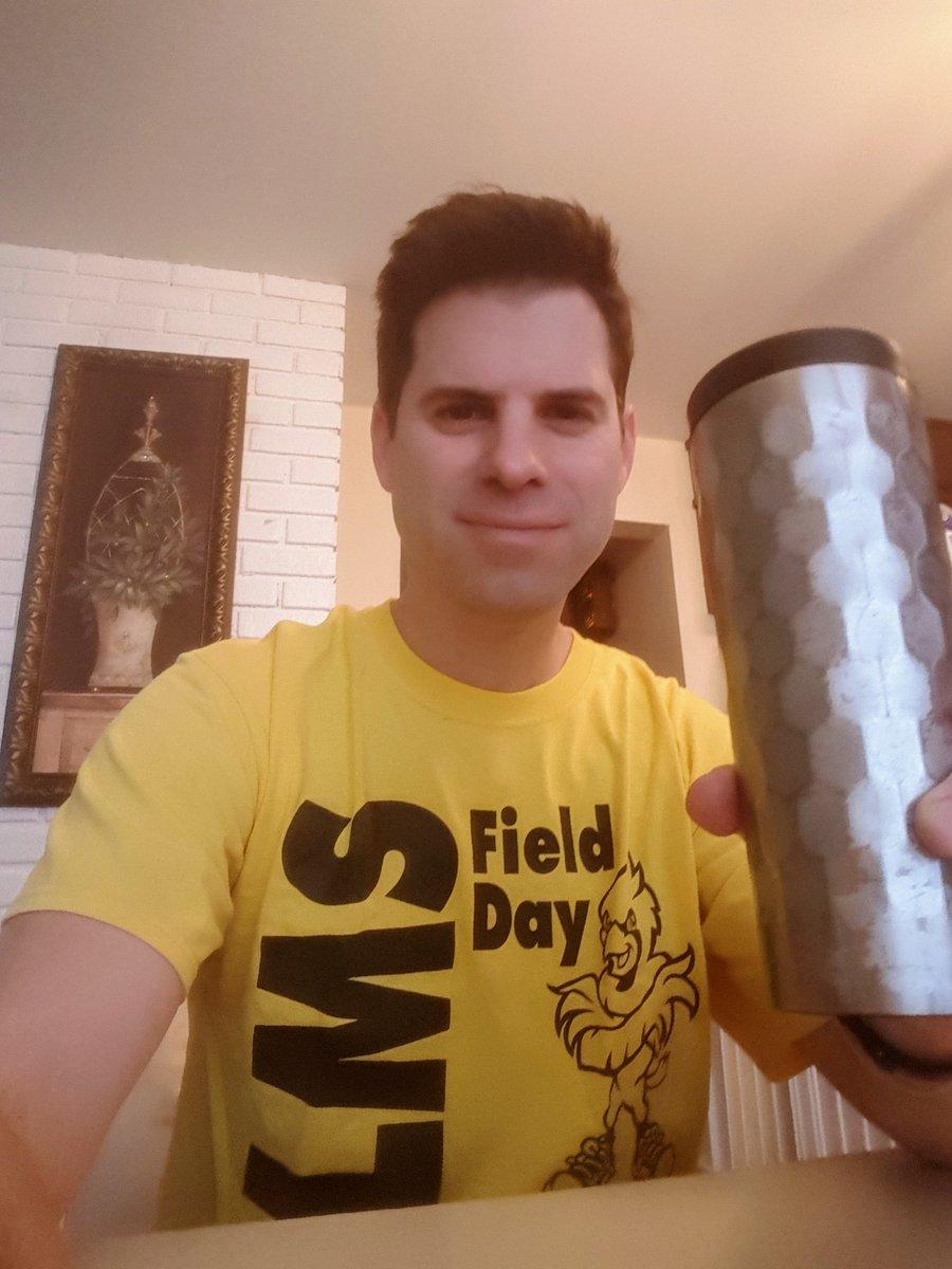 School Spirit Day coffee break! #lawrencestrong @LMSNation