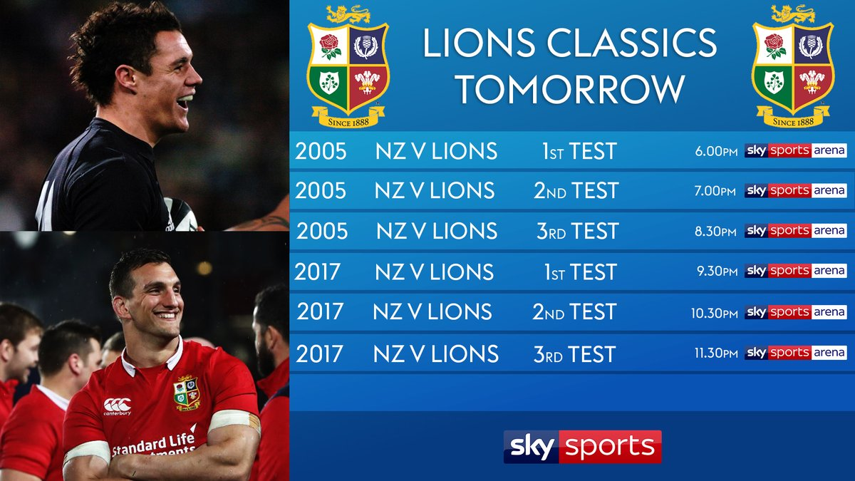 test Twitter Media - We've got a cracking evening of rugby lined up for you tomorrow🏉  Join us on @SkySports Arena from 6pm for a Lions marathon🦁👇 https://t.co/8XagmVx3ka