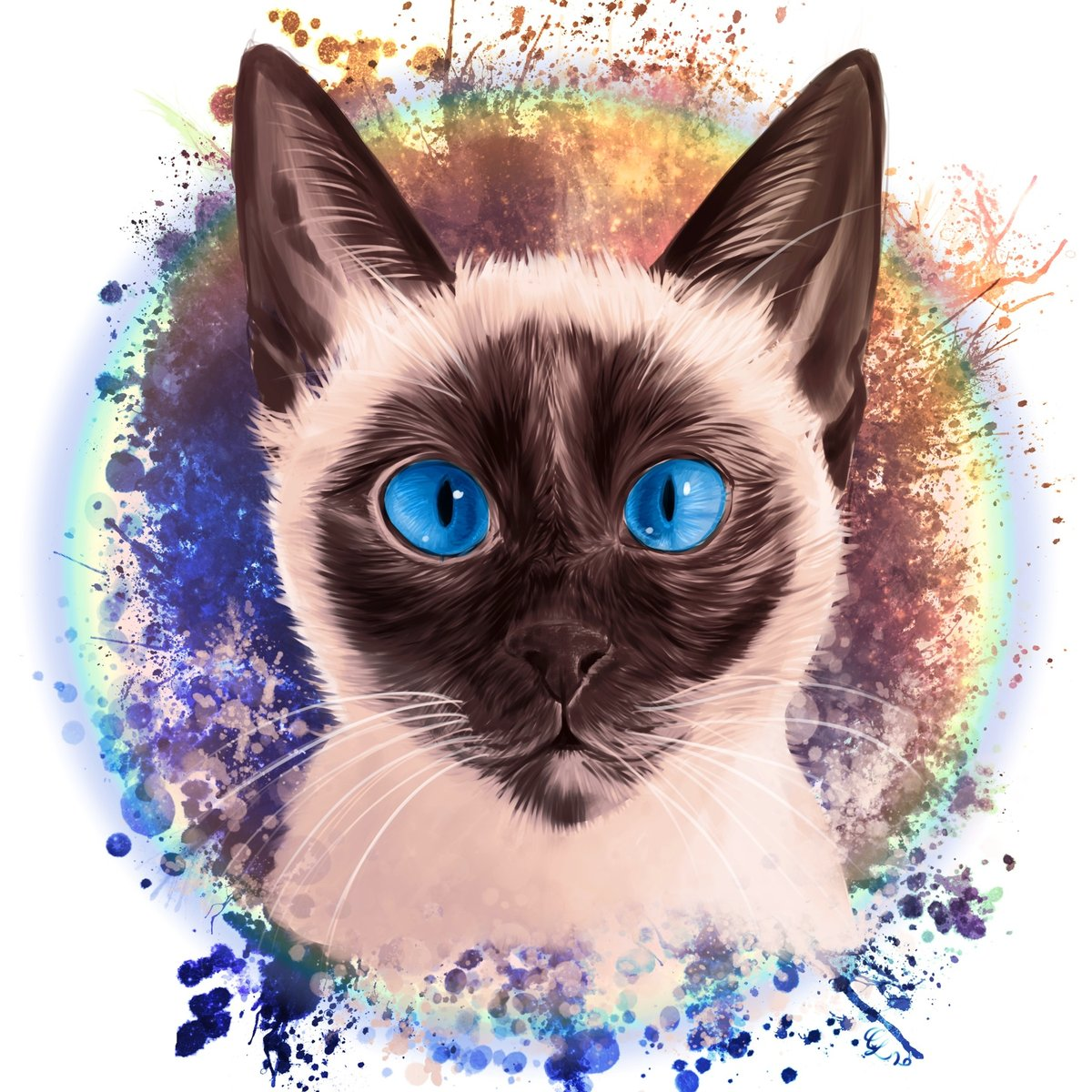 Today's painting is of Ross' (@rubberninja) new kitten! I couldn't resist doing a painting! I hope Orph won't be too jealous...perhaps he needs one too? #art #digitalart #csp #clipstudiopaint #ipad #ipadart #artist #catpainting #petpainting #petportrait