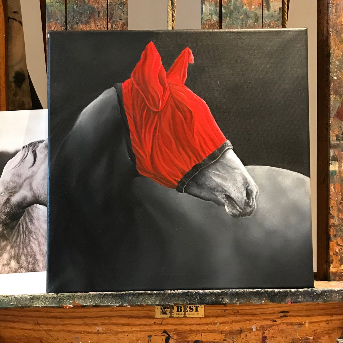 Many tweaks and changes = 4 years in the making but I think Grace's Secret is finally finished 😌   #art #artist #artistic #artwork🎨 #artoftheday #artistlife #abstractart #oilpainting #oilpaintings #oilpaint #oilpaintingoncanvas #painting #horse #horsepainting #PeakyBlinders