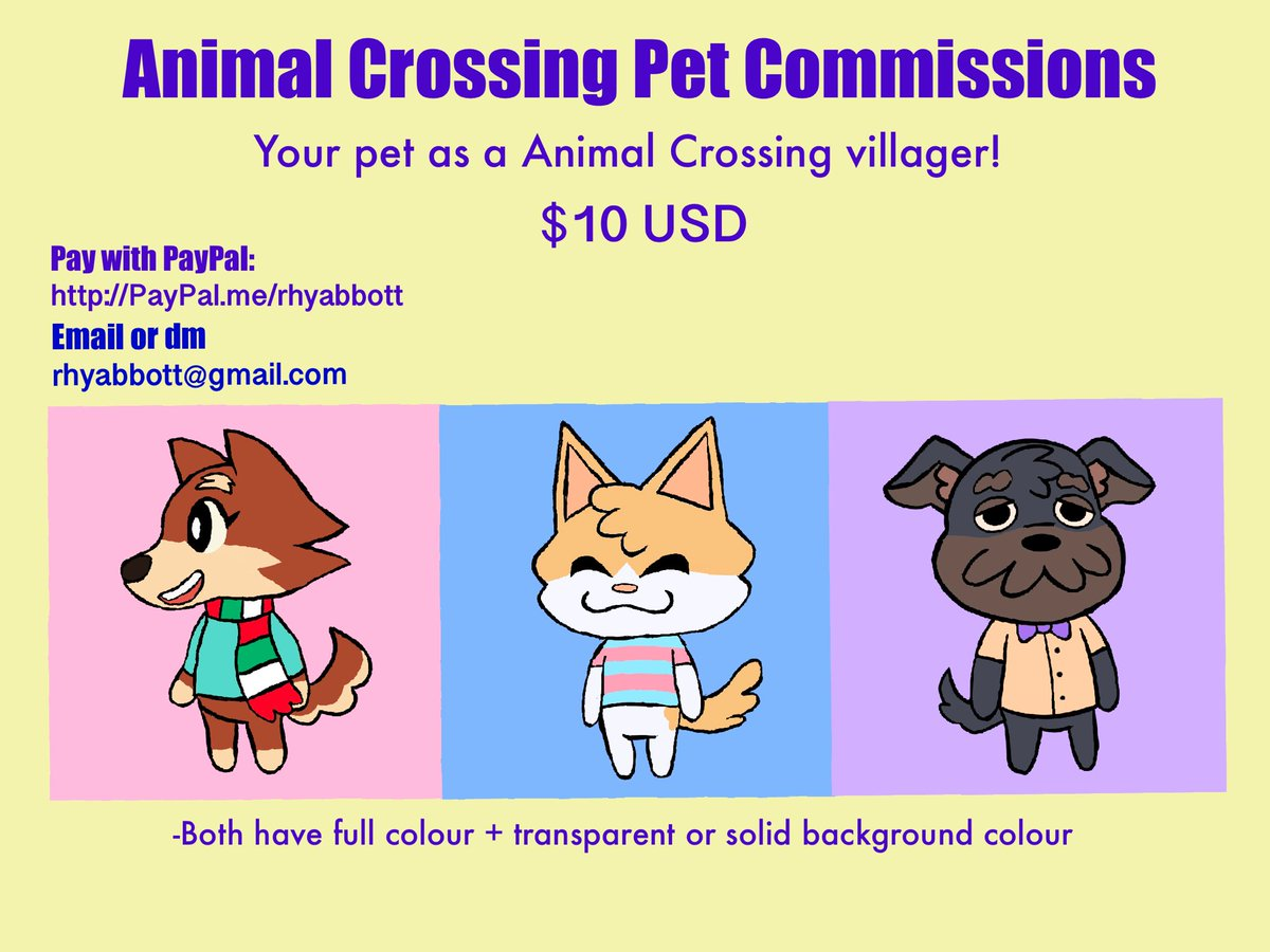 Opening up commissions! I will draw your pet as an Animal Crossing character! #art #commissions #artcommissions #AnimalCrossing #acnh #AnimalCrossingNewHorizons