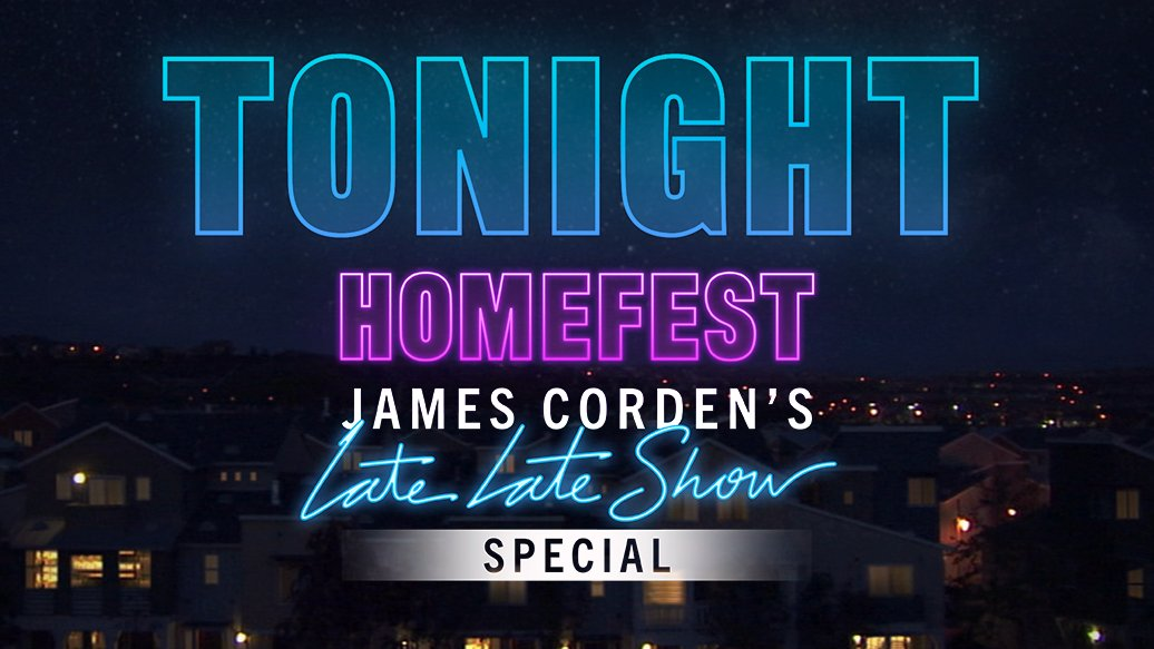 #HomeFest is TONIGHT!  Join @JKCorden in his garage as he virtually connects with @billieeilish and @finneas, @AndreaBocelli, @bts_bighit, @davidblaine, @DUALIPA, @johnlegend + Will Ferrell and more!  This unforgettable special starts promptly at 10pm on @CBS. Don't be late! https://t.co/IBB0JOtZgr