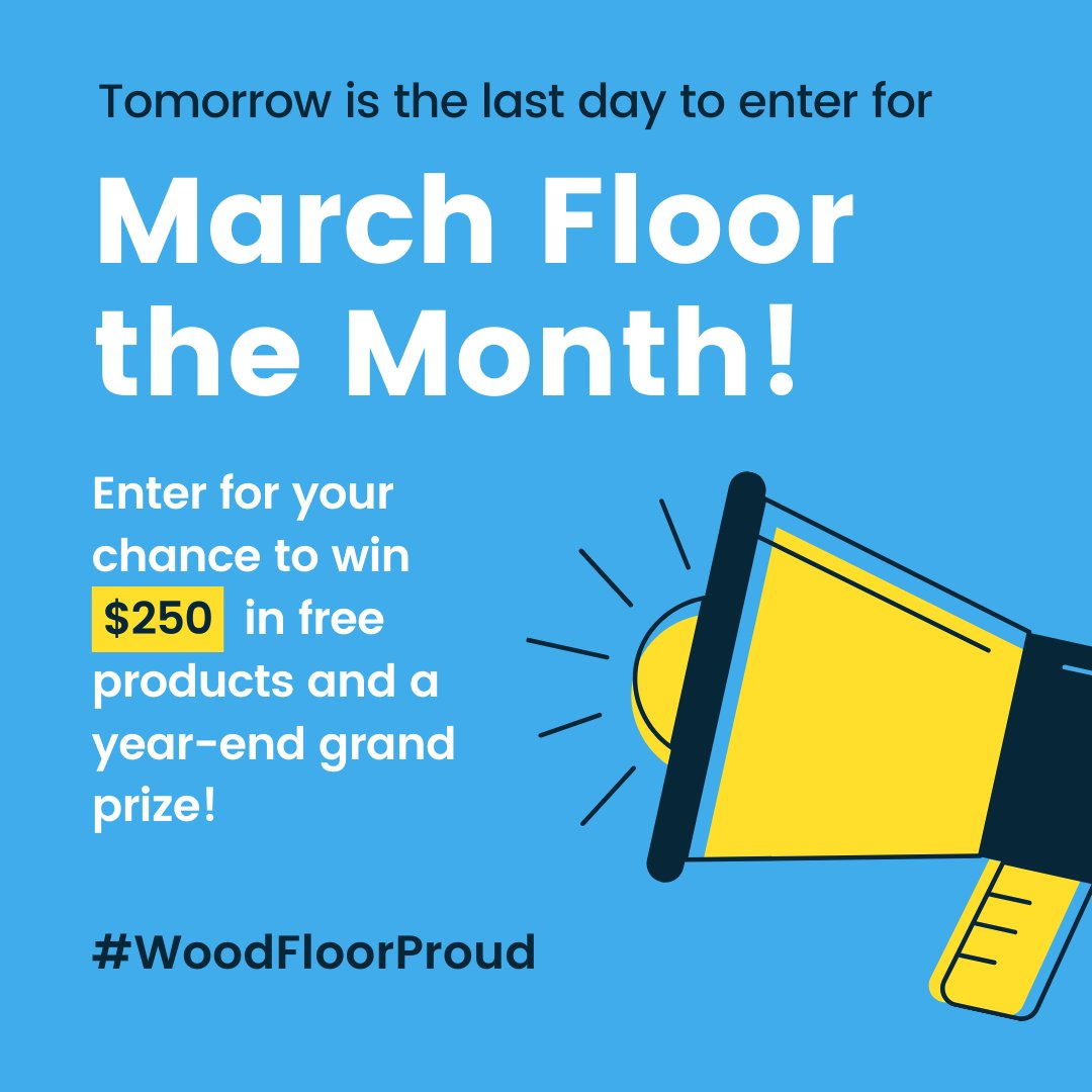 Don't forget to enter! Learn more:  #WoodFloorProud #contest #competition #wood #hardwood #floor #rockstar #free #win