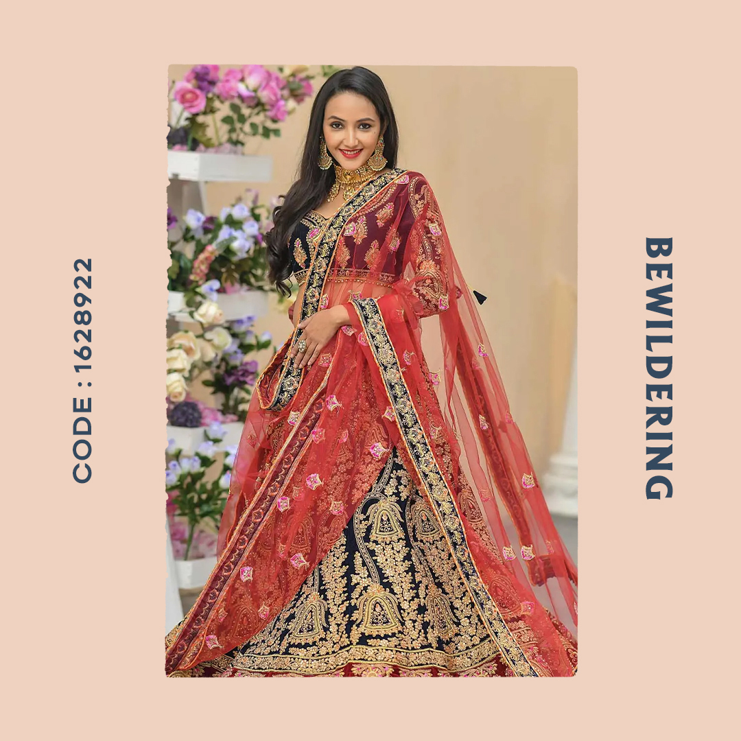 Velvet blue lehenga teamed up with matching choli and red dupatta jazzed up in the resham, stone, thread. . . Product code: 1628922 . . Price: US$ 109.90 . . . #indianweddingsaree #ethnicwear #lehengacholi #weddinglehenga #velvet #bollywood #womenfashion #womendresspic.twitter.com/lV8HCbryNe