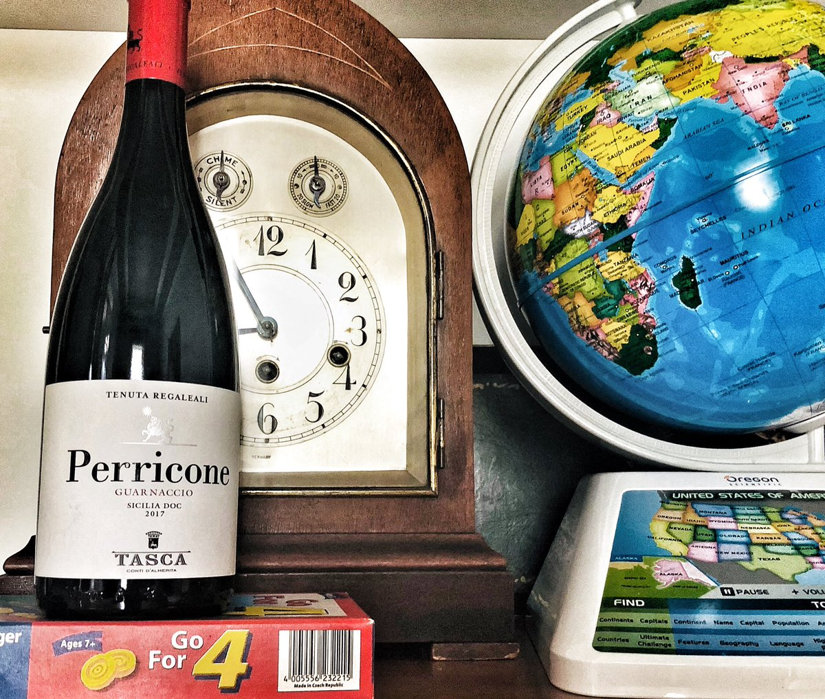 Perricone, a rare red grape variety that thrives in Sicily, has been cultivated at Tasca since 1959. While the grape is usually in blends, this beauty is rich & wild, deep dark plum plucked perfectly ripe, black cherries warm from the sun, with smoke, black pepper. #wine #yum. pic.twitter.com/8SKeOutreV