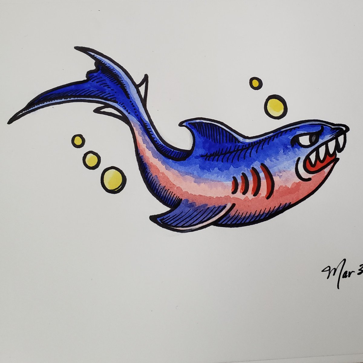 Elisa Shigehiro Art On Twitter More Studies Sailor Jerry Shark Flash This One Is Giving Me Cuphead Vibes Sailorjerryflash Practice Studies Elisashigehiro Elisashigehiroart Shark Ink Watercolor Https T Co Yporkmu0pk