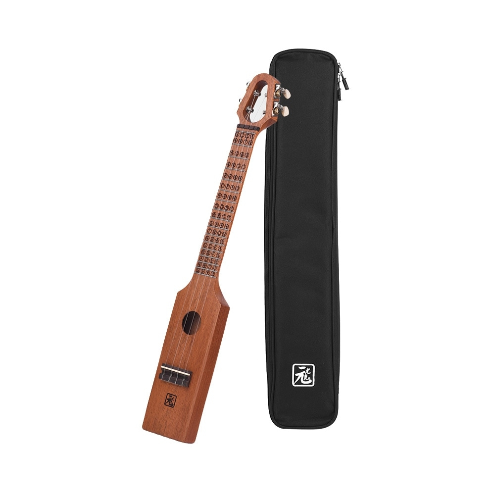 #style #like #cool Carved Compact Acoustic Ukulele with Bag