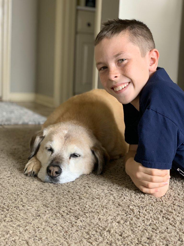 Mason loves his old sleepy dog Roxie@ShoalCreekStars #InThisTogetherLPSpic.twitter.com/1Umr9ojegV