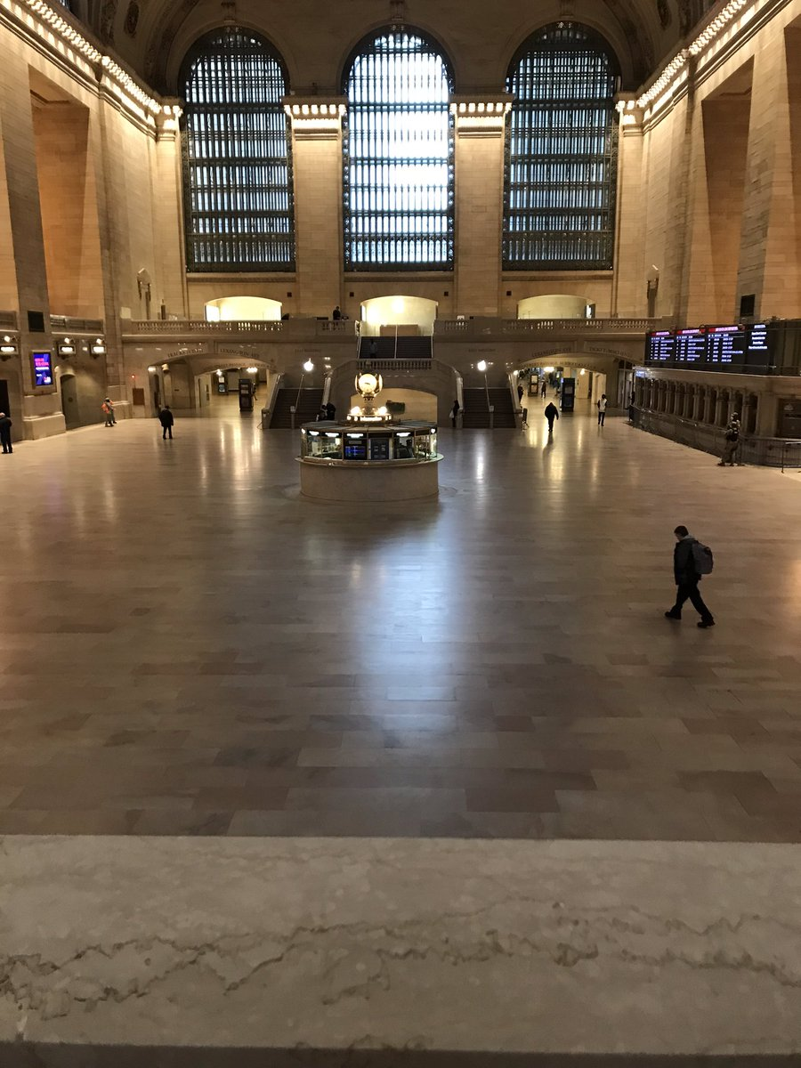 Grand Central at 9:30am today. Mind blowing. #COVID19 #coronavirus #nyc #SocialDistancing
