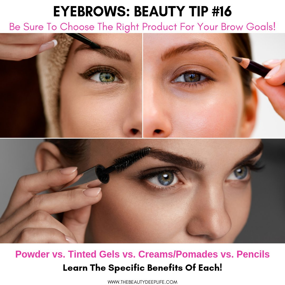 Do you know if you are you using the right makeup products for your brow goals?    Do you need them to have more staying power? https://thebeautydeeplife.com/beauty-tips-for-eyebrows/…  #eyebrows #beautytips #makeup #browgoals #browsonfleek #browsonpoint #eyebrowsonpoint #makeuptips #makeupforeyebrowspic.twitter.com/Ir2aVjw6Mh