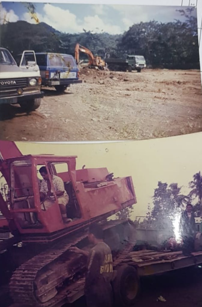Dad sending pictures of construction work in the mid 1990's. I always get so teary when I think of how he struggled, life was tough when he started off - 1 truck became a fleet, then came the diggers and the rest is history  #30yrs of service to Samoa  pic.twitter.com/MWku4XMZiK