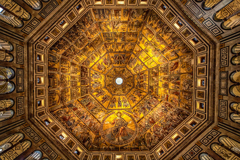 The mosaics on the ceiling of the #Florence Baptistry, #Italy. (Photographer: Shane Lin) pic.twitter.com/683KGqOmie