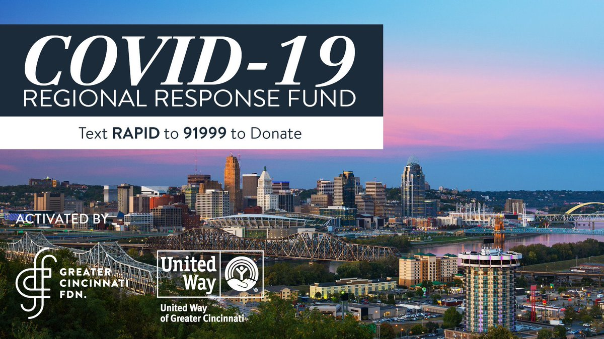 City Of Cincinnati On Twitter Mayor Cranley Asks Those Who Are Able To Give To The Covid19 Regional Response Fund Funds Raised Will Benefit Numerous Nonprofits Serving Vulnerable Population Affected By This
