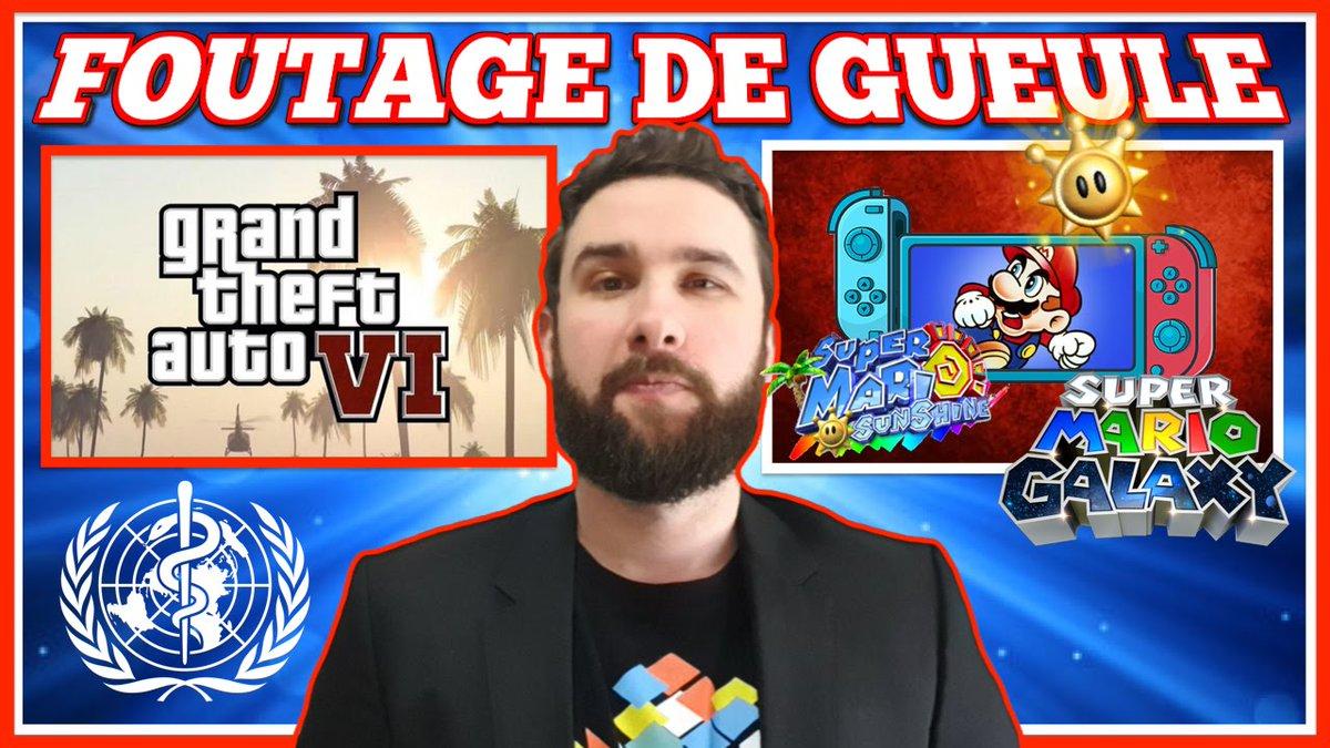 Faut ABSOLUMENT qu'on parle d'un GROS FOUTAGE DE GUEULE ensemble  On parle de la GROSSE Rumeur du retour, pour les 35 ans de Mario, de #MarioSunshine & #MarioGalaxy sur #NintendoSwitch & de quelques infos croustillantes sur #GTAVI ! VIDEO DISPO https://youtu.be/WNxM7MAMmU8pic.twitter.com/BcCoN5yZxv