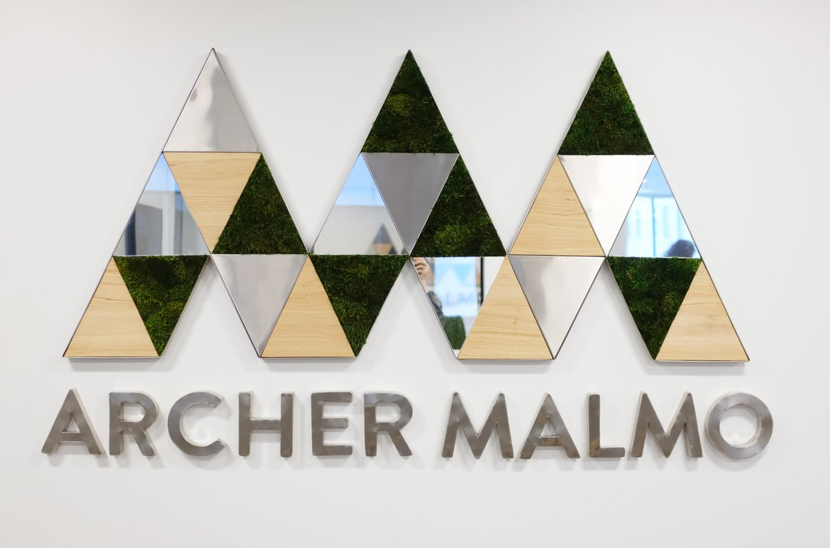 Absolutely in 💚love💚 with this recent installation for @archermalmo ! #stainlesssteel #wood #mirror #moss  Custom signage designed just for you! What can we dream up together?   #botanicaldesignstudio #smallbusinessstrong #logo #create #customsignage #branding