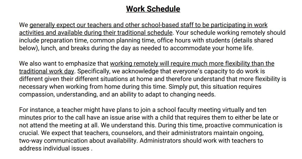 Teachers are generally expected to work during the work day...but with some flexibility built in.