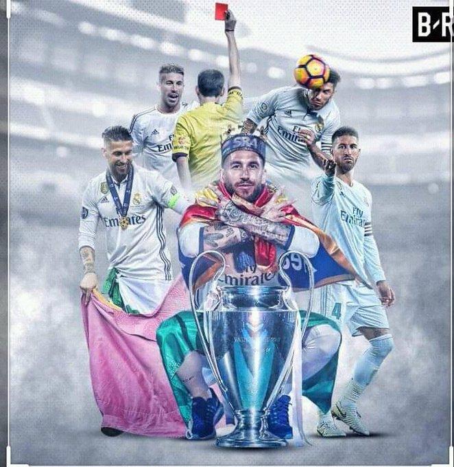 Happy birthday capitaine Sergio Ramos Halla Madrid