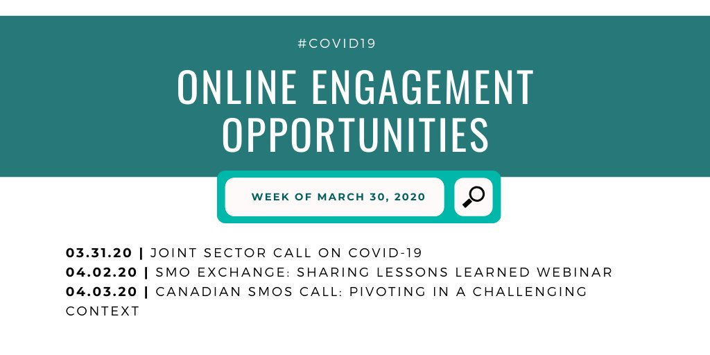 Online engagement opportunities for #SMOs this week with @Spur_Activer, @ICN_RCC and @CCCICCIC - find out more and sign up! https://t.co/UbFgN1FZoa
